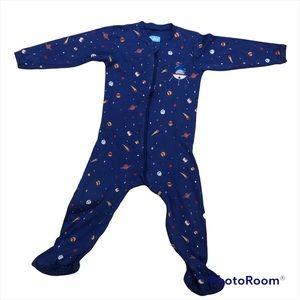 🚀 Spaceship Zip Pyjama Footie Onesie